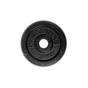 Acél súlyzótárcsa inSPORTline Blacksteel 0,5 kg