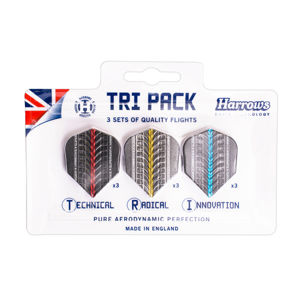 Darts toll készlet Harrows Supergrip Flight Tri Pack