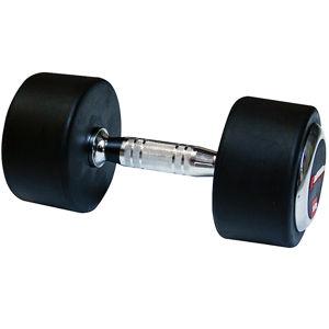 Egykezes gumírozott súlyzó inSPORTline 50 kg