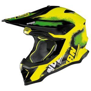 Motocross sisak Nolan N53 Lazy Boy LED Yellow