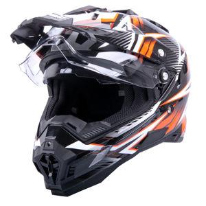 Motocross sisak W-TEC AP-885 grafit szürke