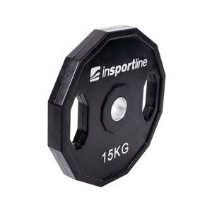 Olimpiai gumírozott súlyzótárcsa inSPORTline Ruberton 15 kg